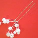 White Pearls Fashion Hair Sticks (10 quantity)