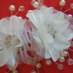 Crystal Pearl Bridal Hair Flower
